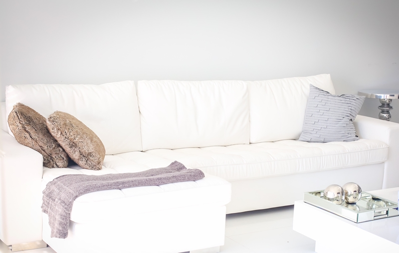 A sectional provides ample seating room for everyone!