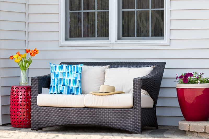 Be sure to choose weather-resistant materials for your outdoor furniture.