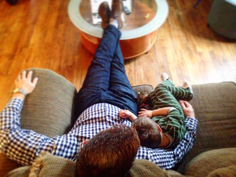 Give dad the gift of snuggle time.